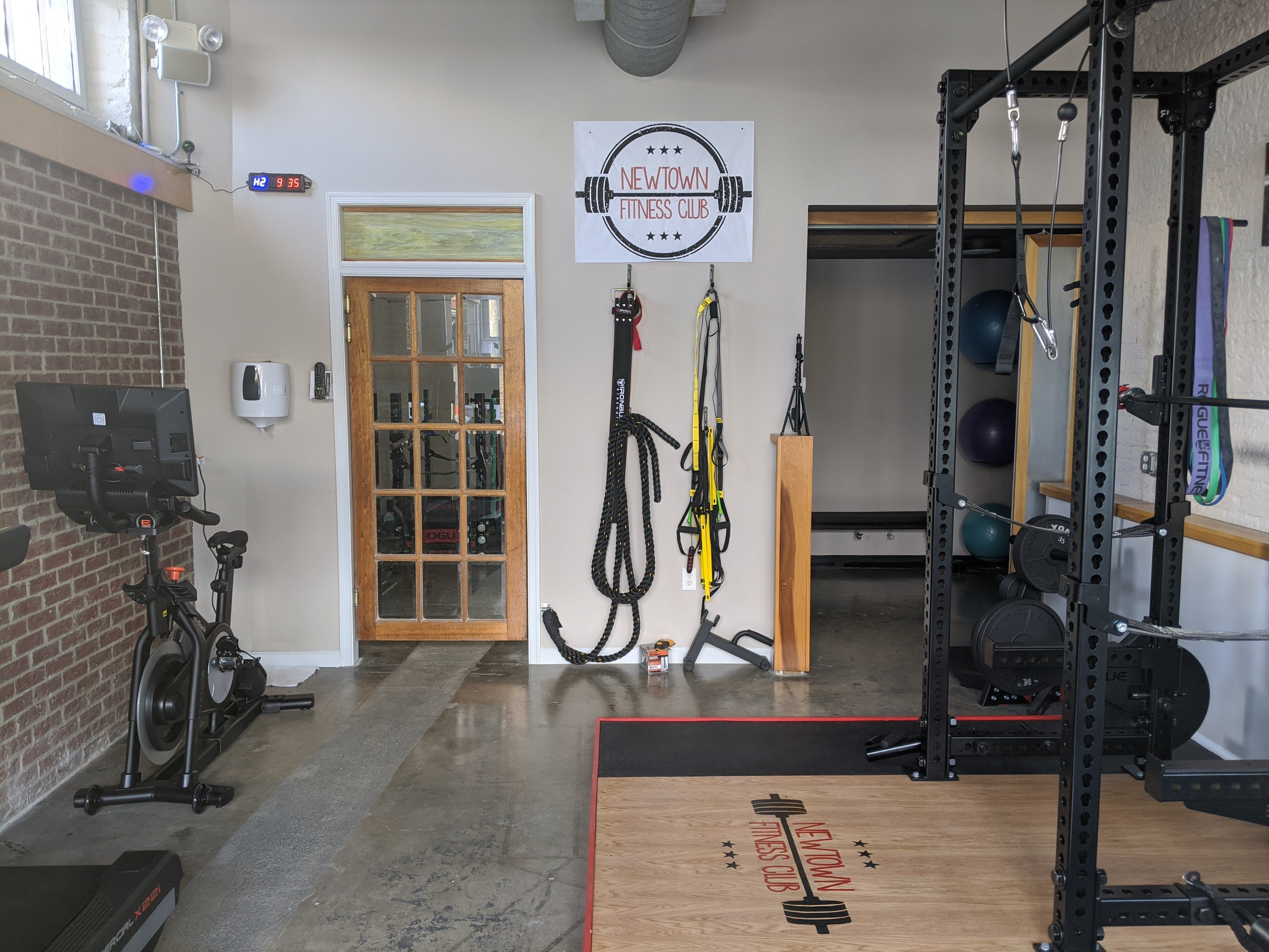 Back wall of gym