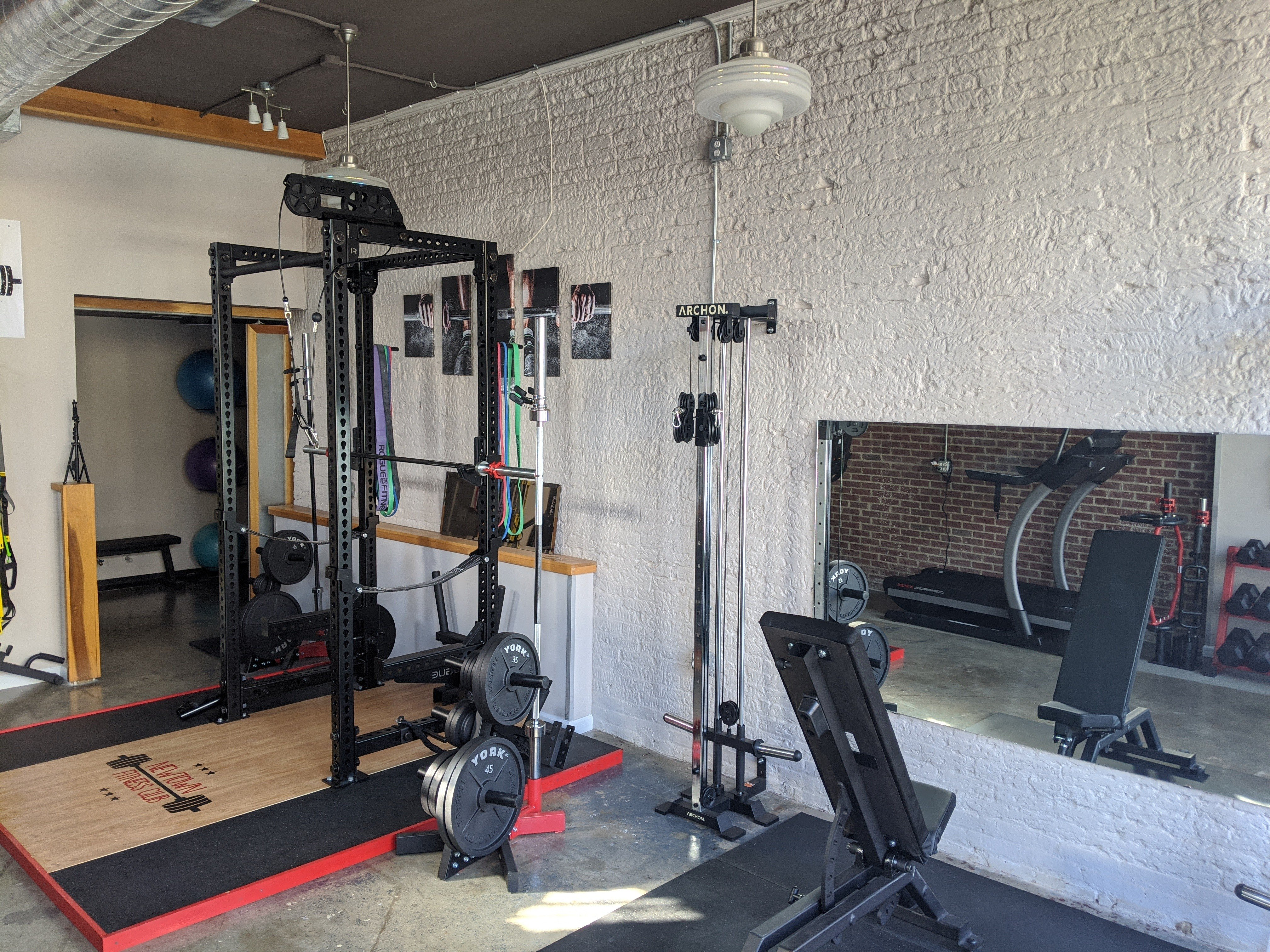 Squat rack and cables